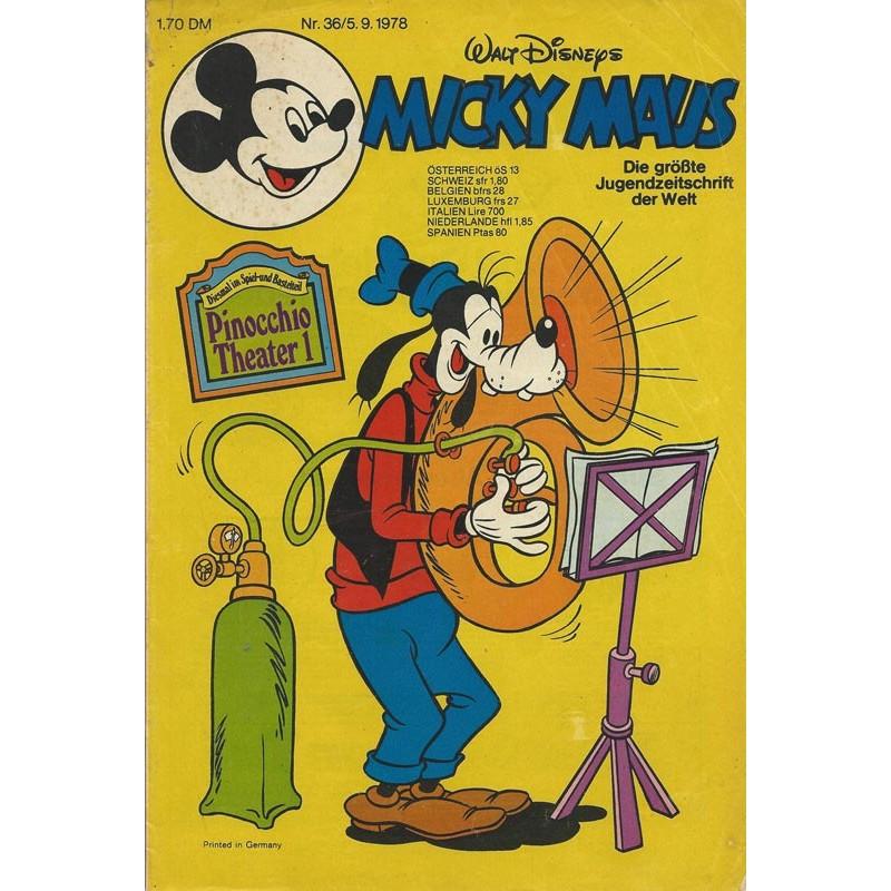 Micky Maus Nr. 36 / 5 September 1978 - Pinocchio Theater 1