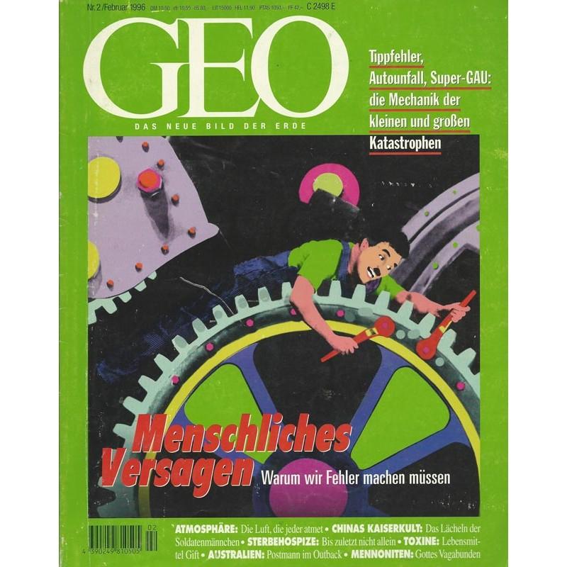 Geo Nr. 2 / Februar 1996 - Menschliches Versagen