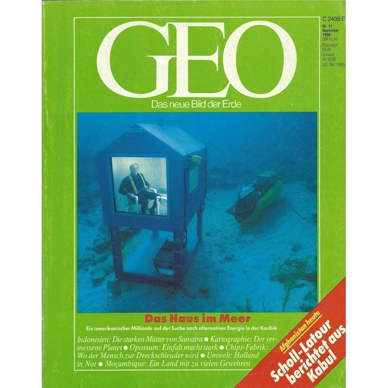 Geo Nr. 11 / November 1990 - Das Haus im Meer