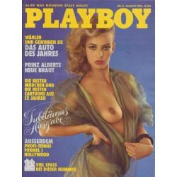 Playboy Nr.8 / August 1984 - Playmate Katrin Fett