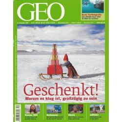 Geo Nr. 12 / Dezember 2009 - Geschenkt!