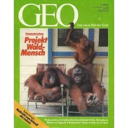 Geo Nr. 5 / Mai 1992 - Projekt Waldmensch