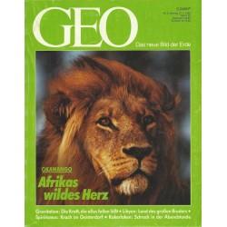Geo Nr. 2 / Februar 1992 - Okawango Afrikas wildes Herz