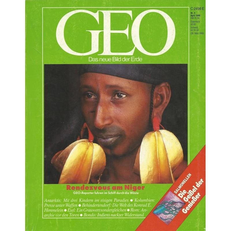 Geo Nr. 4 / April 1990 - Rendezvous am Niger