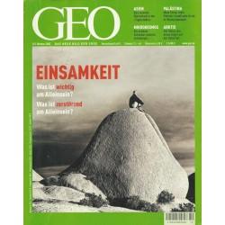 Geo Nr. 10 / Oktober 2002 - Einsamkeit