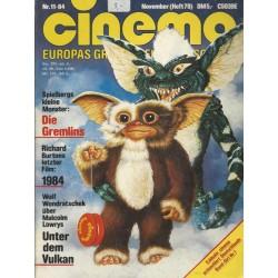 CINEMA 11/84 November 1984 - Die Gremlins