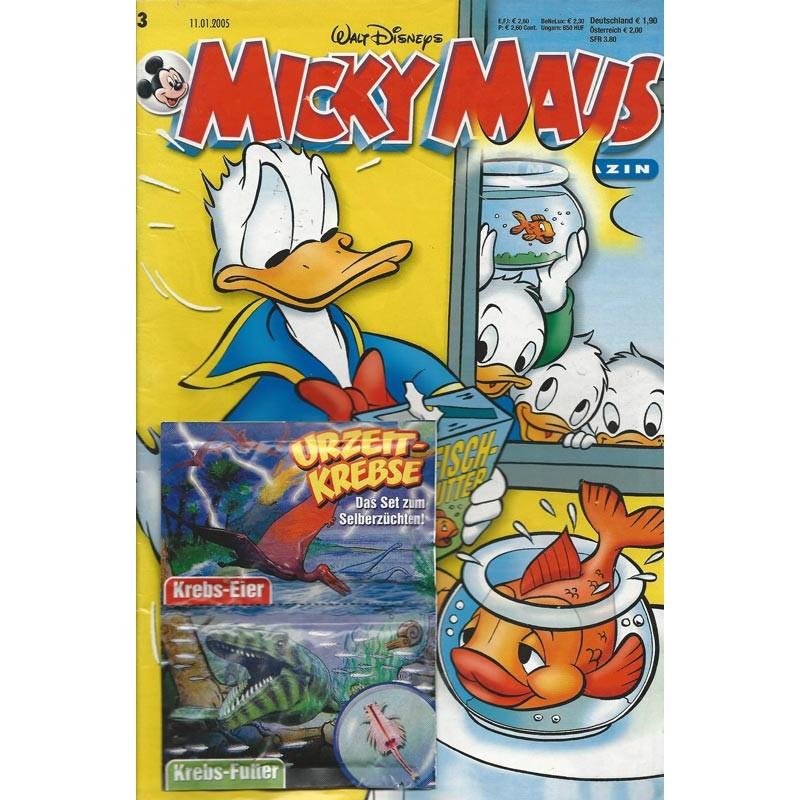 Micky Maus Nr. 3 / 11 Januar 2005 - Urzeit Krebse