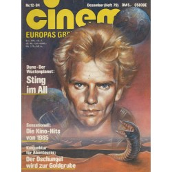 CINEMA 12/84 Dezember 1984 - Dune der Wüstenplanet