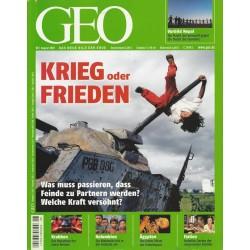 Geo Nr. 8 / August 2007 - Krieg oder Frieden