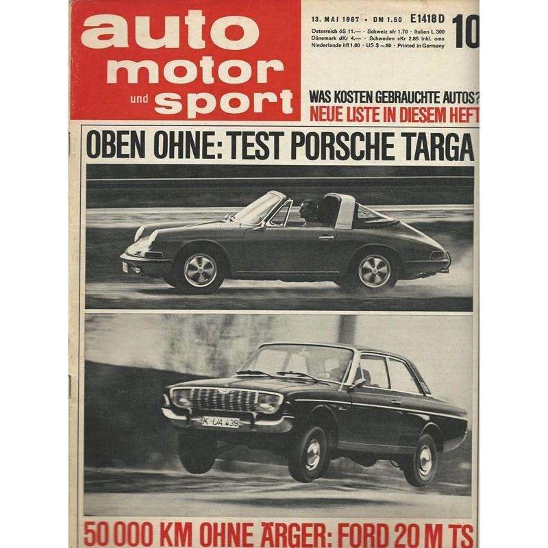 auto motor und sport Heft 10 / 13 Mai 1967