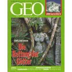 Geo Nr. 3 / März 1994 - Die Rettung der Götter
