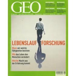 Geo Nr. 8 / August 2002 - Lebenslauf Forschung