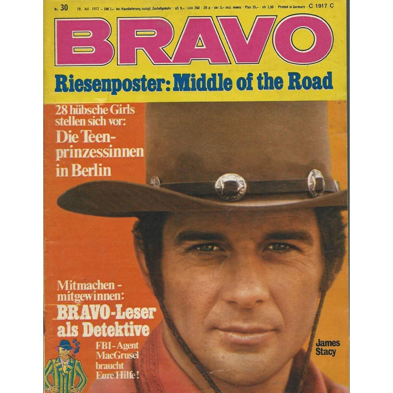 BRAVO Nr.30 / 19 Juli 1972 - James Stacy