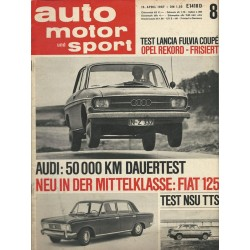 auto motor & sport Heft 8 / 15 April 1967 - Fiat 125