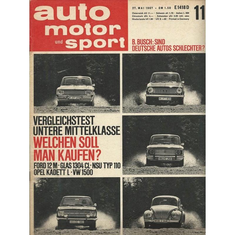 auto motor & sport Heft 11 / 27 Mai 1967 - Welchen soll man kaufen?