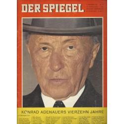 Der Spiegel Nr.41 / 9 Oktober 1963 - Konrad Adenauers 14 Jahre