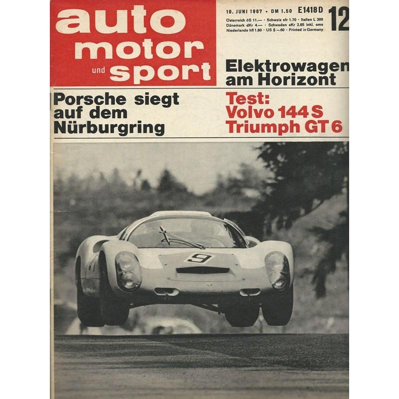 auto motor & sport Heft 12 / 10 Juni 1967 - Porsche Nürburgring