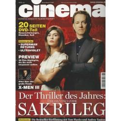 CINEMA 6/06 Juni 2006 - Sakrileg