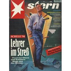 stern Heft Nr.19 / 5 Mai 1994 - Lehrer im Streß