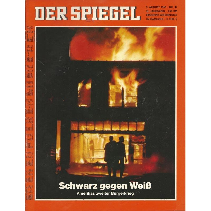 Der Spiegel Nr.33 / 7 August 1967 - Schwarz gegen Weiß