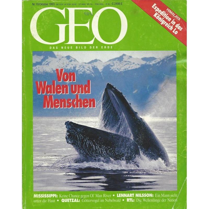 Geo Nr. 10 / Oktober 1993 - Von Walen und Menschen