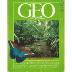 Geo Nr. 7 / Juli 1990 - Das Atelier im Urwald
