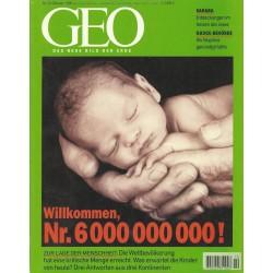 Geo Nr. 10 / Oktober 1999 - Willkommen Nr. 6000 000 000!