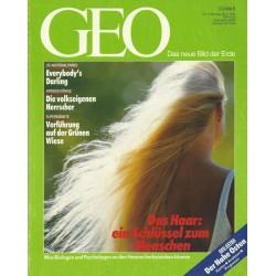 Geo Nr. 4 / April 1991 - Das Haar, ein Schlüssel zum Menschen