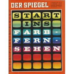 Der Spiegel Nr.35 / 21 August 1967 - Start ins Farbfernsehen