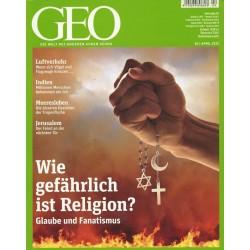 Geo Nr. 4 / April 2012 - Wie gefährlich ist Religion?