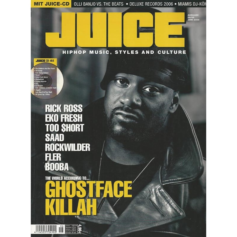 JUICE Nr.86 Juni / 2006 & CD 64 - Ghostface Killah