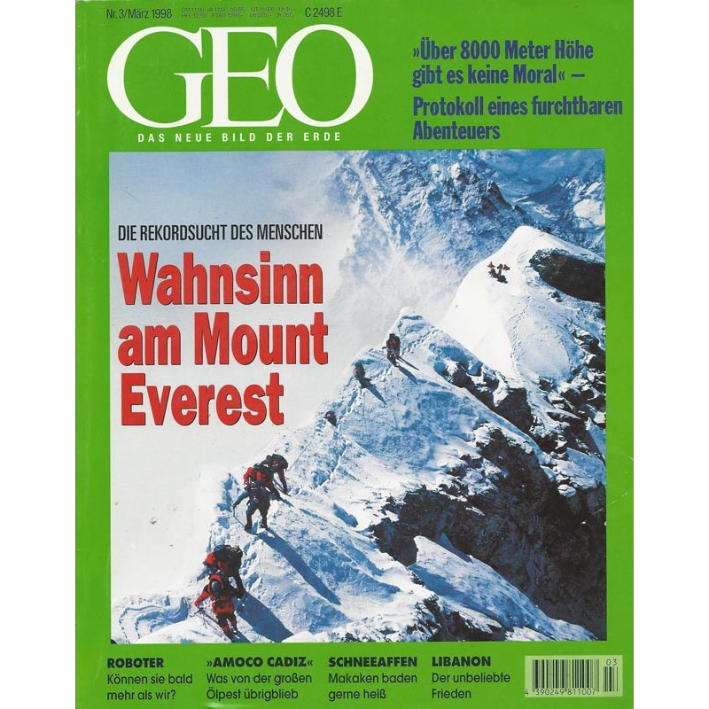 Geo Nr. 3 / März 1998 - Wahnsinn am Mount Everest