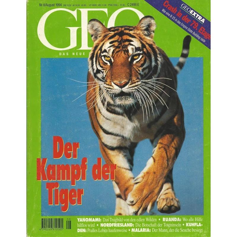 Geo Nr. 8 / August 1994 - Der Kampf der Tiger