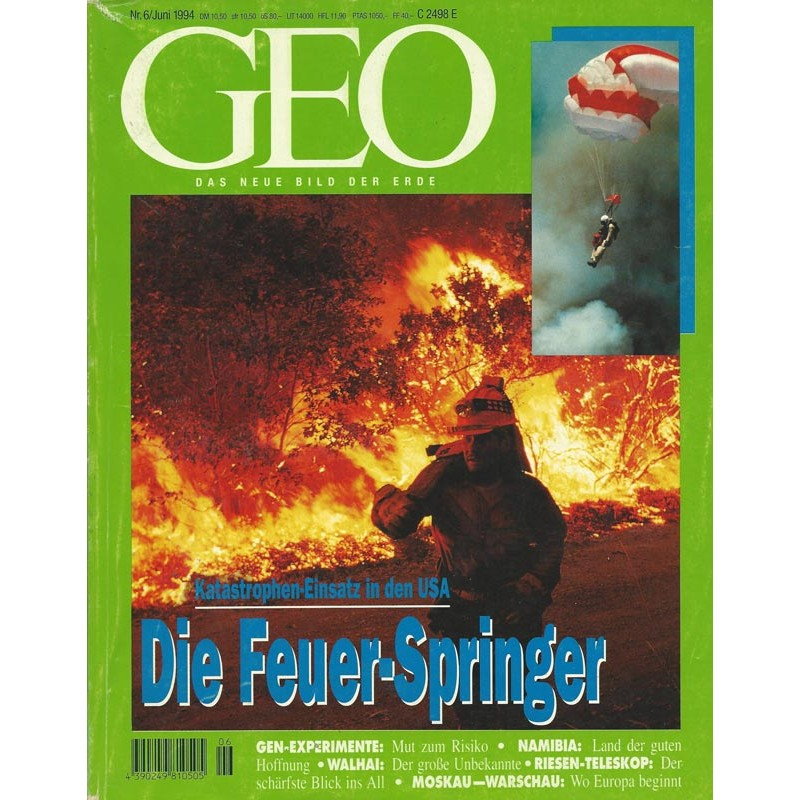 Geo Nr. 6 / Juni 1994 - Die Feuer Springer