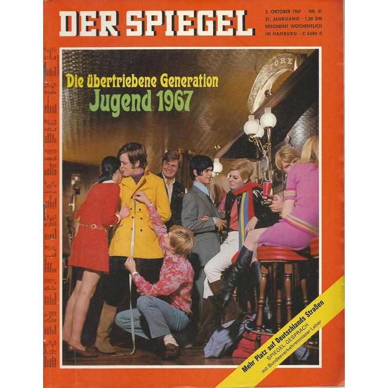 Der Spiegel Nr.41 / 2 Oktober 1967 - Jugend 1967