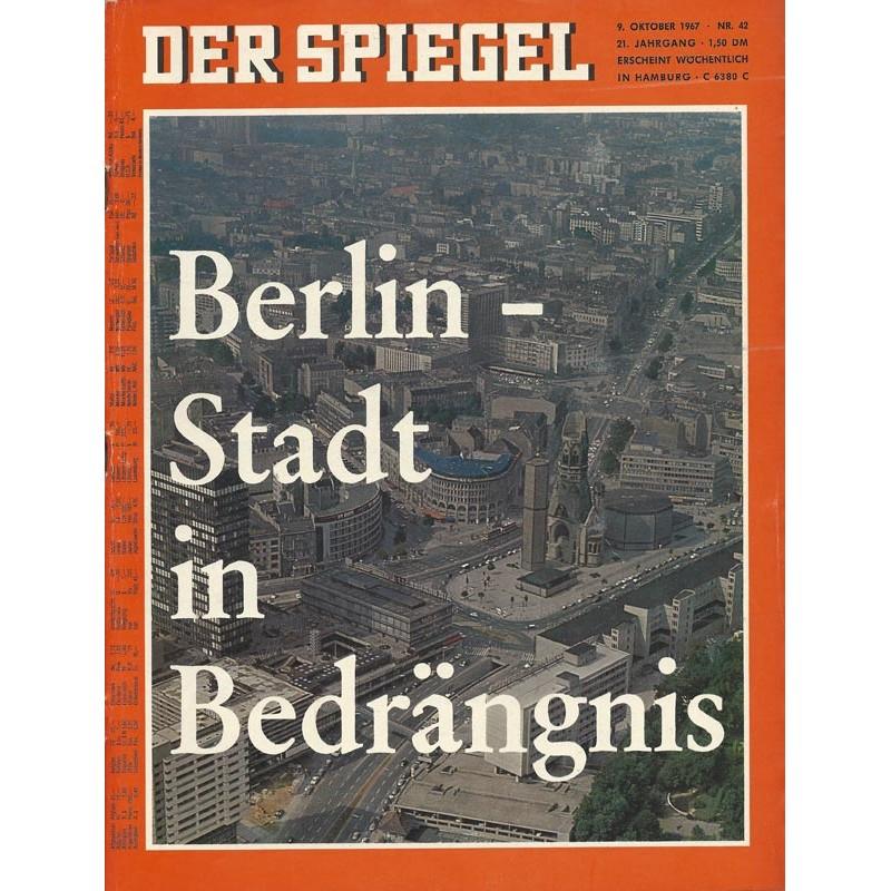 Der Spiegel Nr.42 / 9 Oktober 1967 - Berlin, Stadt in Bedrängnis