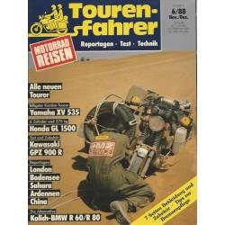 Tourenfahrer November/Dezember Ausgabe 6/1988