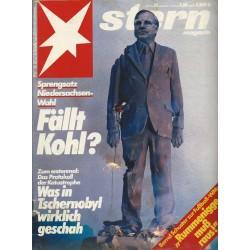 stern Heft Nr.25 / 12 Juni 1986 - Fällt Kohl?