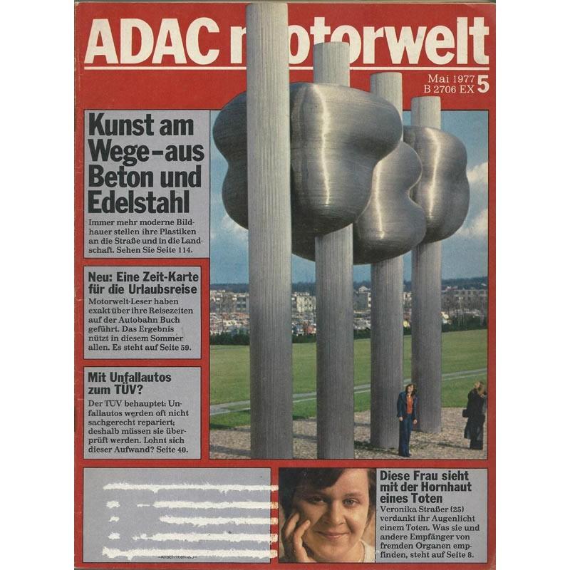 ADAC Motorwelt Heft.5 / Mai 1977 - Kunst am Wege