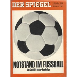 Der Spiegel Nr.28 / 7 Juli 1965 - Notstand im Fussball