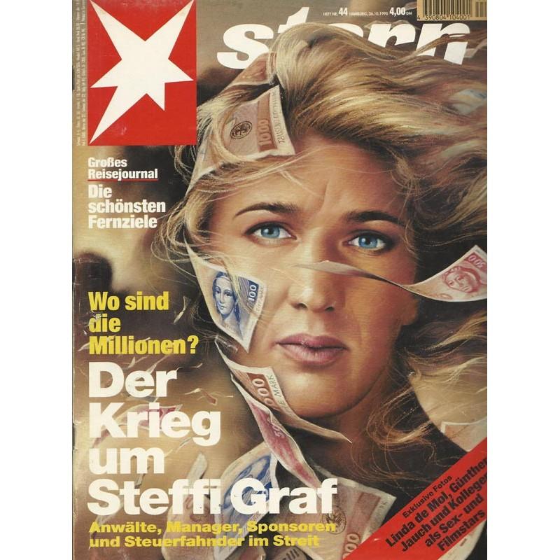 stern Heft Nr.44 / 26 Oktober 1995 - Der Krieg um Steffi Graf