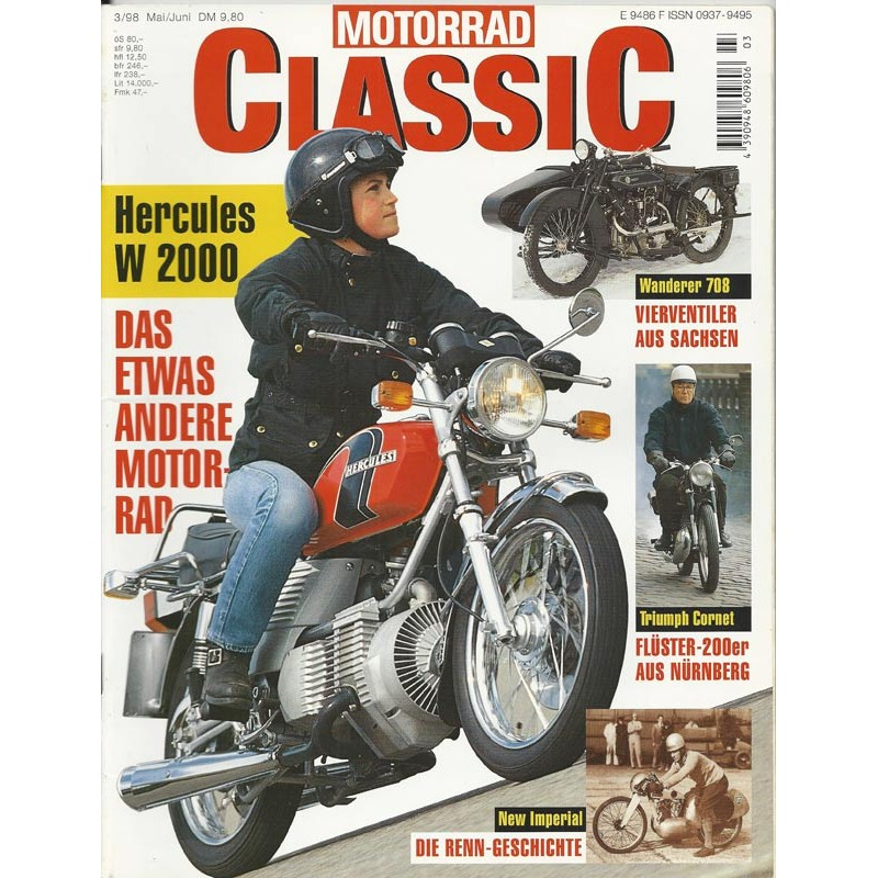 Motorrad Classic 3/98 - Mai/Juni 1998 - Hercules W 2000