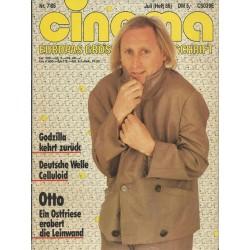 CINEMA 7/85 Juli 1985 - Otto Waalkes