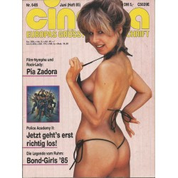 CINEMA 6/85 Juni 1985 - Pia Zadora
