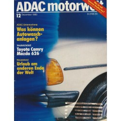ADAC Motorwelt Heft.12 / Dezember 1983 - Was können Waschanlagen?