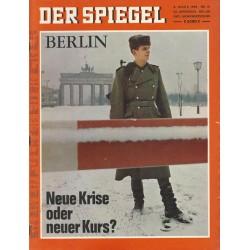 Der Spiegel Nr.10 / 3 März 1969 - Neue Krise oder neuer Kurs!