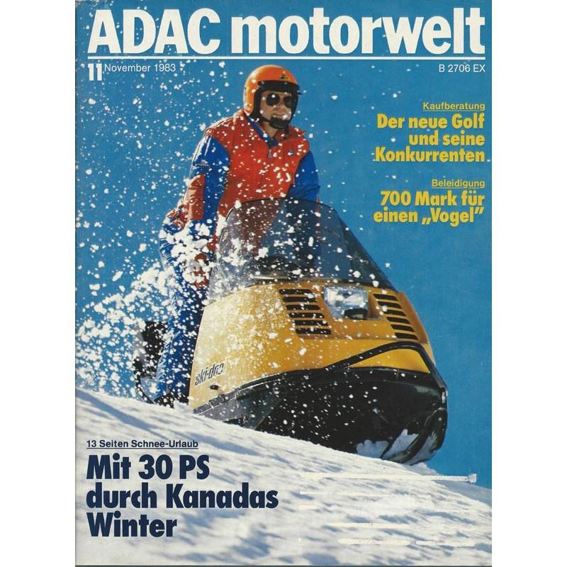 ADAC Motorwelt Heft.11 / Nov. 1983 - Mit 30 PS durch Kanadas Winter