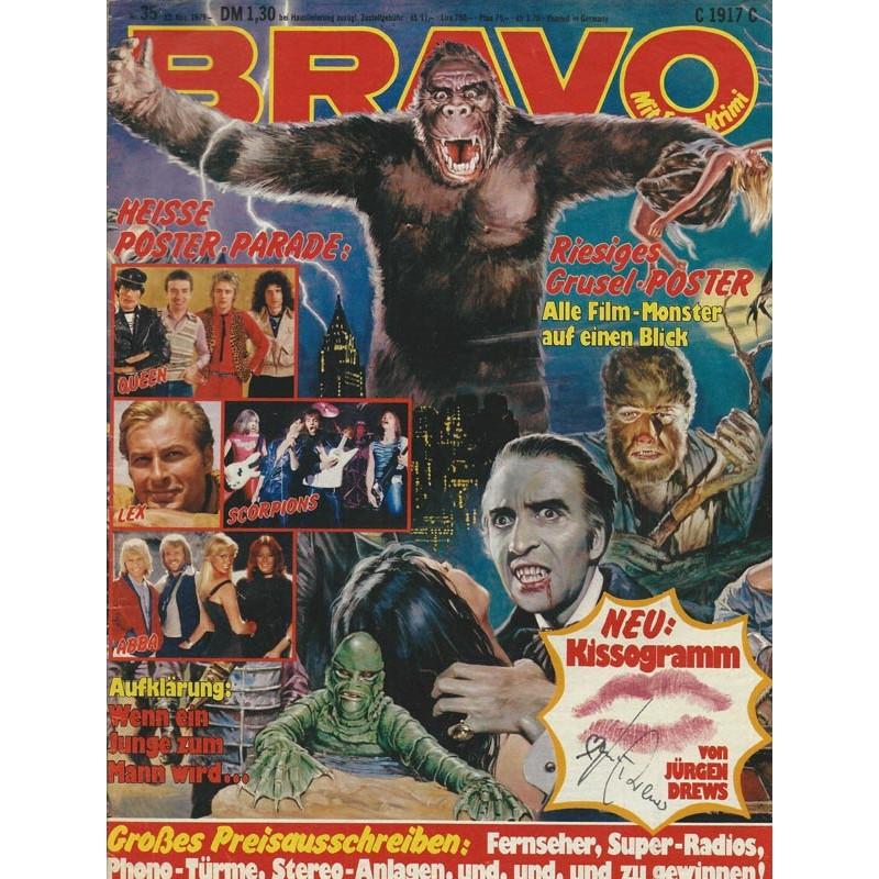 BRAVO Nr.35 / 23 August 1979 - Riesiges Grusel Poster