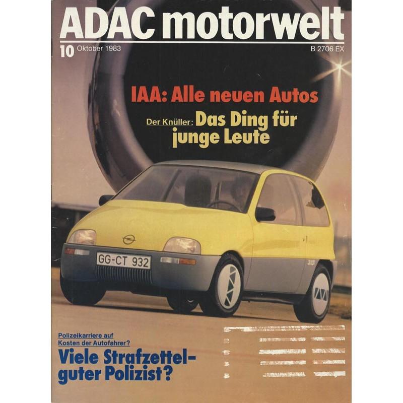 ADAC Motorwelt Heft.10 / Oktober 1983 - IAA alle neuen Autos
