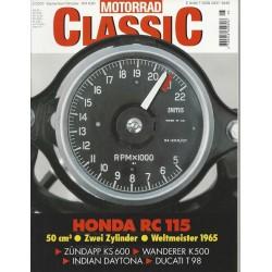 Motorrad Classic 5/00 - Sep/Okt 2000 - Honda RC 115